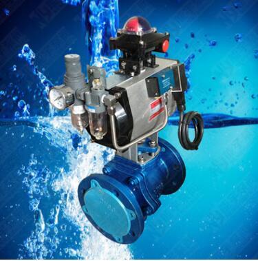Q641F46-16C DN65 气动衬氟球阀 化工业耐腐蚀耐酸碱专用球阀