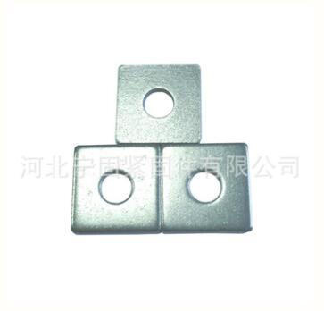 厂家生产方形垫片高强度垫圈 垫片金属平垫圈薄厚宽窄规格可定制