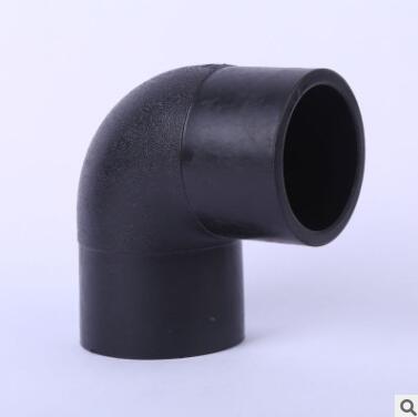 源头工厂全新料对接90度弯头大弯多规格耐压接头现货批发pe管件