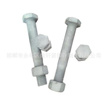 厂家专业生产 m39热镀锌外六角螺栓 4.8级镀锌加长型全扣螺丝
