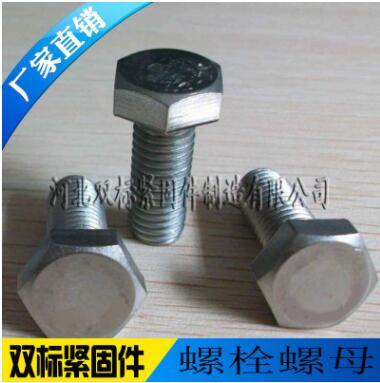 供应平头外六角螺栓螺丝8.8级高强度螺栓 热镀锌电镀锌全扣M6-M42