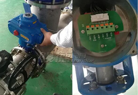 广东某公司采购般德气动和电动衬氟蝶阀用于电厂项目