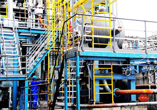 图为试车中的国产化高压煤浆进料泵
