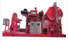 耐普泵业曹妃甸海洋平台柴油机消防泵组顺利出厂