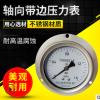 厂家直供 不锈钢轴向带边压力表 轴向直接安装式压力表
