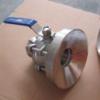 不锈钢卫生级罐底球阀,三片式罐底球阀,焊接罐底阀