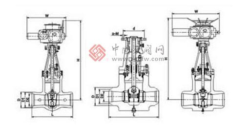 电动焊接闸阀结构图