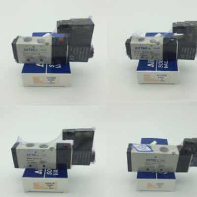 AIRTAC/亚德客电磁阀4V210-08气动电磁阀二位五通 220v气阀控制阀