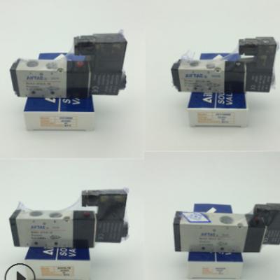 亚德客AirTAC电磁阀4V110-06二位五通气动换向控制阀AC220V DC24V