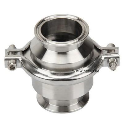 卫生级焊接止回阀食品级单向阀食品饮料制药管道逆止阀不锈钢304
