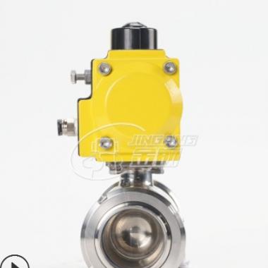 厂家销售气动球阀不锈钢卡箍气动阀球阀20-102mm行标单向气动球阀