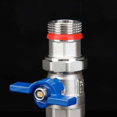 内外丝过滤器活接球阀进回水 带压力表 暖气阀 分水器配件
