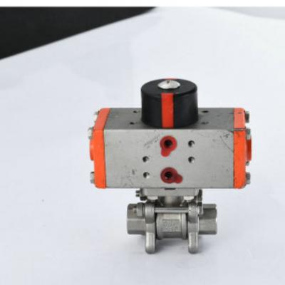 专业生产Q611F-16P不锈钢304三片式3PC内螺纹连接气动球阀
