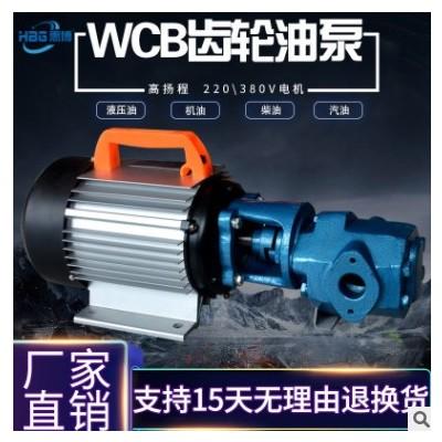 WCB-75 手提式齿轮油泵 液压齿轮泵 防爆齿轮泵 齿轮润滑油泵