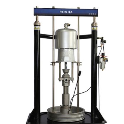 气动压盘泵 黄油泵 高粘度胶泵 双立柱泵 55加仑200升桶泵固瑞克