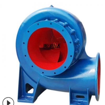 厂家源润达柴油HW混流泵 大流量蜗壳式农用灌排水泵铸铁加厚泵壳