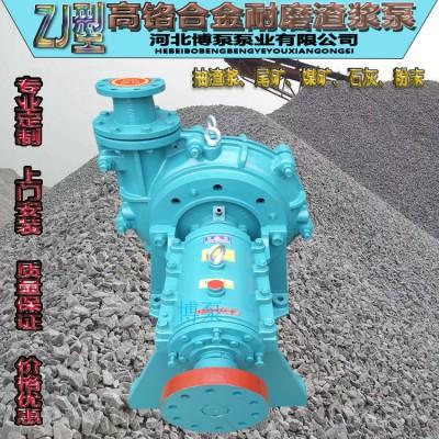 50ZJ型渣浆泵 博泵供应高铬合金卧式杂质泵