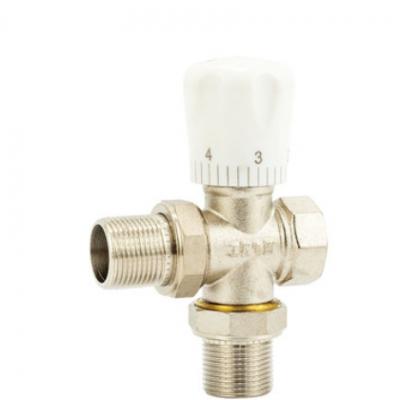 温控调节阀 二通式黄铜镀镍自动排气过滤杂质温控阀管道阀定制
