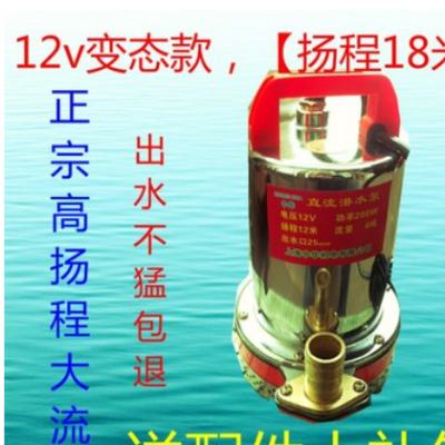 12V直流潜水泵24V48V60V伏电动车抽水机农用小型抽水泵电瓶车水泵