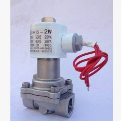 厂家供应不锈钢活塞式电磁阀 水用电磁阀 高压螺纹不锈钢电磁阀