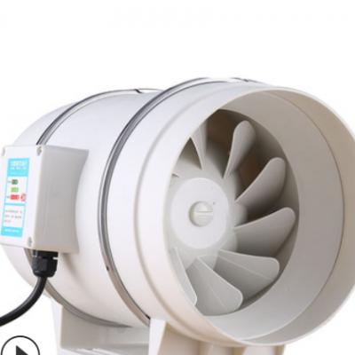 圆形斜流管道增压风机220V静音油烟抽风机卫生间厨房换气排风扇