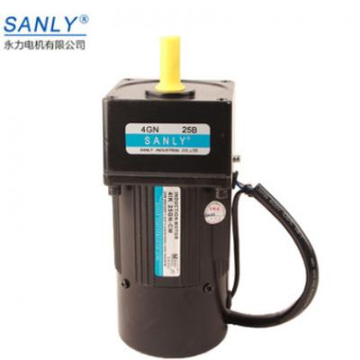 厂家直销SANLY永力4IK25RGN-CM/25W交流定速刹车电机齿轮减速马达