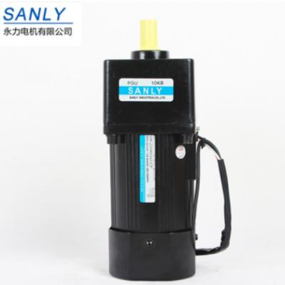 SANLY纺织机械用140W调速交流马达 6IK140RGU-CF小型齿轮减速电机