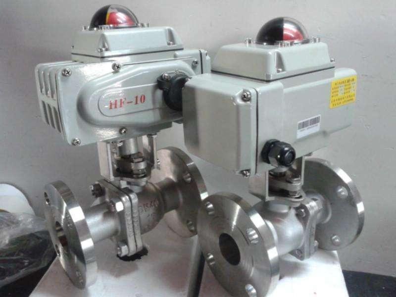 Q941F-16型电动球阀  不锈钢法兰电动球阀